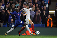 Tiemoue Bakayoko Chelsea, Edin Dzeko Roma <br /> Londra 18-10-2017 Stamford Bridge Football Champions League 2017/2018 Chelsea - Roma <br /> Foto Gino Mancini / Insidefoto