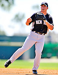 12 March 2011: New York Yankees' infielder Doug Bernier warms up prior to a Spring Training game against the Washington Nationals at Space Coast Stadium in Viera, Florida. The Nationals edged out the Yankees 6-5 in Grapefruit League action. Mandatory Credit: Ed Wolfstein Photo