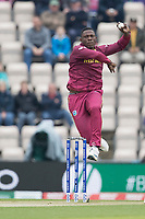 Sheldon Cottrell (West Indies) during South Africa vs West Indies, ICC World Cup Cricket at the Hampshire Bowl on 10th June 2019