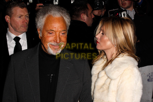 LONDON, ENGLAND - DECEMBER 02 : Tom Jones and Kate Moss arrive at the Kate Moss, Marc Jacobs and Playboy - party at the Playboy Club London on December 2nd, 2013 in London, England.<br /> CAP/AH<br /> &copy;Adam Houghton/Capital Pictures