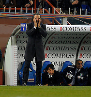 GENOVA, ITALY - February 29, 2012: Head coach Cesare Prandelli during the USA friendly match against Italy at the Stadium Luigi Ferraris in Genova, Italy.