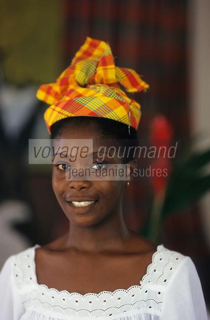 Europe/France/DOM/Antilles/Petites Antilles/Guadeloupe/Morne-à-l'eau : Pitt de Belair - Marie Louise Lazaré [Autorisation : 223] lors de la Fête des Cuisinières