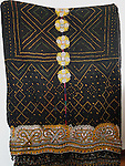 ANTIQUE RABARI WOOL LUDHI SHAWL, HANDSPUN WOOL, HAND WOVEN, HAND DYED, HAND EMBROIDERED. ALL VEGETABLE DYES.