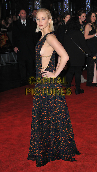 Jennifer Lawrence attends the &quot;The Hunger Games: Mockingjay Part 2&quot; UK film premiere, Odeon Leicester Square, Leicester Square, London, England, UK, on Thursday 05 November 2015. <br /> CAP/CAN<br /> &copy;Can Nguyen/Capital Pictures