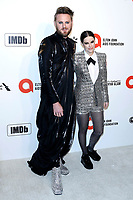 LOS ANGELES - FEB 9:  Bobby Berk, Emily Hampshire at the 28th Elton John Aids Foundation Viewing Party at the West Hollywood Park on February 9, 2020 in West Hollywood, CA