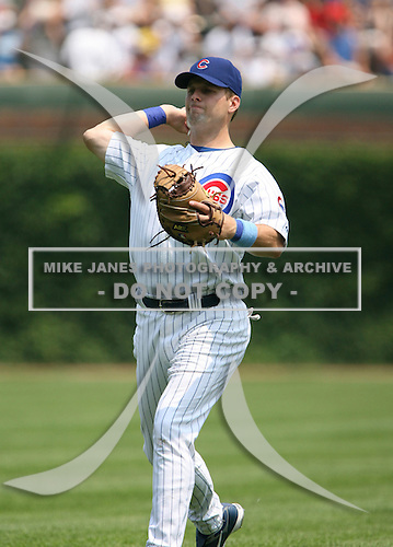 Michael Barrett of the Chicago Cubs vs. the San Diego Padres: June 18th, 2007 at Wrigley Field in Chicago, IL.  Photo copyright Mike Janes Photography 2007.