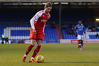 Fleetwood Town's Wes Burns during the Sky Bet League 1 match between Oldham Athletic and Fleetwood Town at Boundary Park, Oldham, England on 26 December 2017. Photo by Juel Miah / PRiME Media Images.