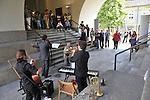 MITO per la citta, appuntamenti musicali itineranti per Settembre Musica. Il gruppo dei Tritono all'Anagrafe Centrale.