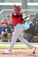 Oscar Mercado, #2 of Gaither High School, Florida playing for the Marucci Elite during the WWBA World Champsionship 2012 at the Roger Dean Complex on October 27, 2012 in Jupiter, Florida. (Stacy Jo Grant/Four Seam Images).