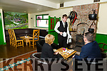 Sean Walsh serving tea in the Bar at Glenduff Manor in Kilduff.