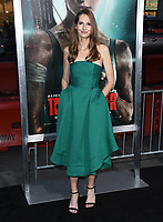 12 March 2018 - Hollywood, California - Geneva Robertson-Dworet. &quot;Tomb Raider&quot; Los Angeles Premiere held at TCL Chinese Theatre. <br /> CAP/ADM/BT<br /> &copy;BT/ADM/Capital Pictures