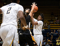 Mercedes Jefflo of California in action during the game against Long Beach State at Haas Pavilion in Berkeley, California on November 8th, 2013.  California defeated Long Beach State, 70-51.