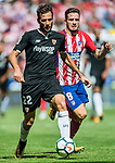 Franco Vazquez of Sevilla FC in action during the La Liga 2017-18 match between Atletico de Madrid and Sevilla FC at the Wanda Metropolitano on 23 September 2017 in Wanda Metropolitano, Madrid, Spain. Photo by Diego Gonzalez / Power Sport Images
