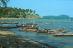 SHORELINE AND BOATS AT SEA GYPSY VILLAGE AT RAWAI BEACH THAILAND