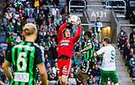 Stockholm 2014-06-18 Fotboll Superettan Hammarby IF - GAIS :  <br /> GAIS m&aring;lvakt Tommi Vaiho tar ner ett inl&auml;gg<br /> (Foto: Kenta J&ouml;nsson) Nyckelord:  Superettan Tele2 Arena Hammarby HIF Bajen GAIS