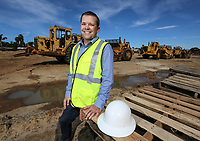 March 15, 2019. Vista, CA. USA| Jeremy Meredith owner of Orion Pacific on his construction site at 1309 N. Santa Fe in Vista. | Photos by Jamie Scott Lytle. Copyright.