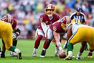 Landover, MD - September 23, 2018: Washington Redskins quarterback Alex Smith (11) during game between the Green Bay Packers and the Washington Redskins at FedEx Field in Landover, MD. The Redskins get the win 31-17 over the visiting Packers. (Photo by Phillip Peters/Media Images International)