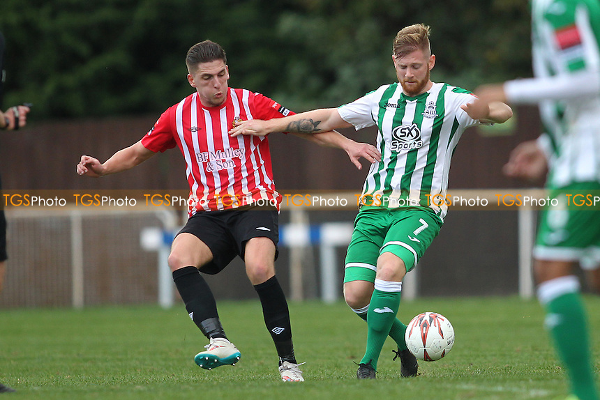 Jed Chouman of Hornchurch and Jay Nash of Great Wakering during AFC Hornchurch vs Great Wakering Rovers, Ryman League Division 1 North Football at Hornchurch Stadium on 22nd October 2016