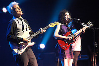 UPPER DARBY, PA - SEPTEMBER 27 :  David Byrne and St. Vincent perform on Love This Giant Tour at the Tower Theater in Upper Darby, Pa on September 27, 2012  © Star Shooter / MediaPunch Inc /NortePhoto