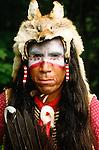 Portrait of an Assiniboine man, USA
