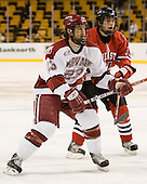 Mike Taylor (Harvard - 23), Ryan Ginand (NU - 3) - The Northeastern University Huskies defeated the Harvard University Crimson 3-1 in the Beanpot consolation game on Monday, February 12, 2007, at TD Banknorth Garden in Boston, Massachusetts.
