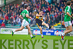 Pa McCarthy Austin Stacks in action against Saint Kierans in the Quarter Finals of the County Championship at Austin Stack Park on Sunday.