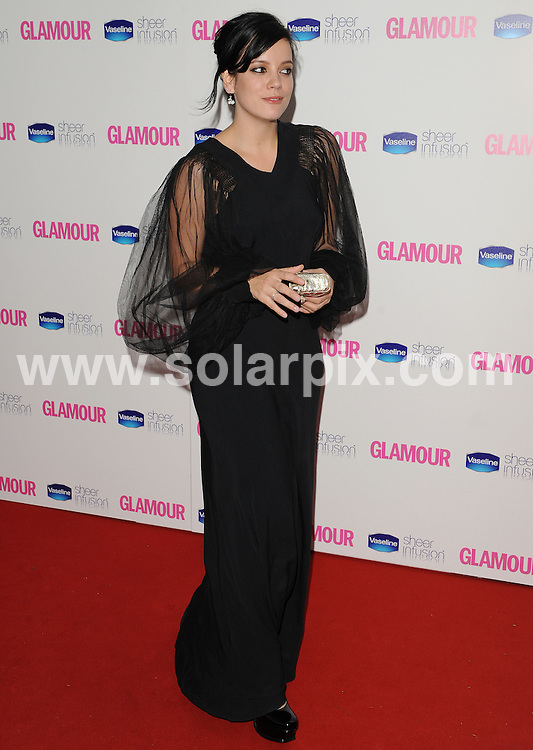 **ALL ROUND EXCLUSIVE PICTURES FROM SOLARPIX.COM**.**WORLDWIDE SYNDICATION RIGHTS**.Inside arrivals at the Glamour Women of the Year Awards 2010.  Held in Berkley Square, London, on Tuesday June 08, 2010...This pic:     Lily Allen.JOB REF:    11427       SSD     DATE:08.06.2010.**MUST CREDIT SOLARPIX.COM OR DOUBLE FEE WILL BE CHARGED**.**MUST AGREE FEE BEFORE ONLINE USAGE**.**CALL US ON: +34 952 811 768 or LOW RATE FROM UK 0844 617 7637**