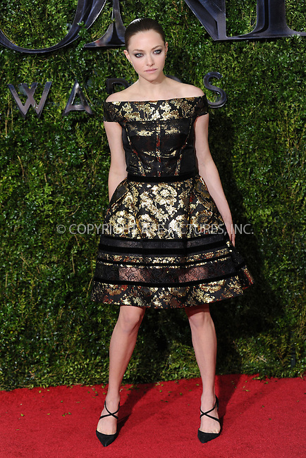 WWW.ACEPIXS.COM<br /> <br /> June 7 2015, New York City<br /> <br /> Amanda Seyfried arriving at the 2015 Tony Awards at Radio City Music Hall on June 7, 2015 in New York City<br /> <br /> By Line: Kristin Callahan/ACE Pictures<br /> <br /> <br /> ACE Pictures, Inc.<br /> tel: 646 769 0430<br /> Email: info@acepixs.com<br /> www.acepixs.com