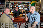 Paul O'Mahony, Mark O'Sullivan PJ Nicholas and Seanie Power in An Cearnog Bar in Tralee on Tuesday night as drink prices were increased in the budget.