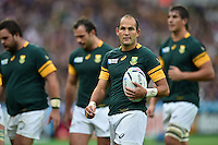 Fourie du Preez of South Africa looks on during a break in play. Rugby World Cup Pool B match between South Africa and the USA on October 7, 2015 at The Stadium, Queen Elizabeth Olympic Park in London, England. Photo by: Patrick Khachfe / Onside Images