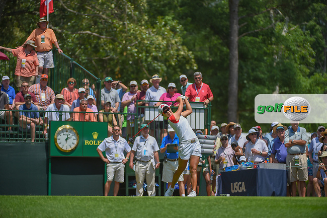 Hyo Joo Kim (KOR) watches her tee shot on 1 during round 3 of the U.S. Women's Open Championship, Shoal Creek Country Club, at Birmingham, Alabama, USA. 6/2/2018.<br /> Picture: Golffile | Ken Murray<br /> <br /> All photo usage must carry mandatory copyright credit (© Golffile | Ken Murray)