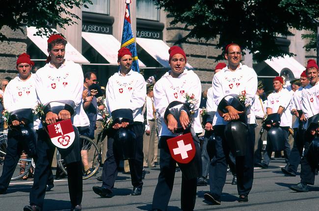 Parade, Independence Day, Zurich, Switzerland