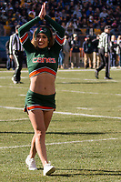 Miami Hurricanes cheerleader. The Pitt Panthers upset the undefeated Miami Hurricanes 24-14 on November 24, 2017 at Heinz Field, Pittsburgh, Pennsylvania.