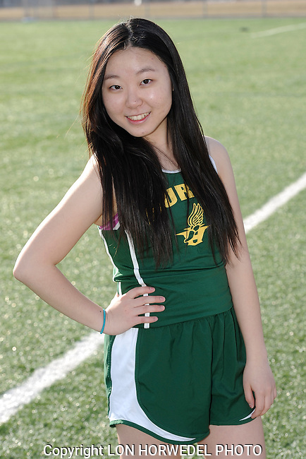 Huron High School girl's track and field team. 4-2-14