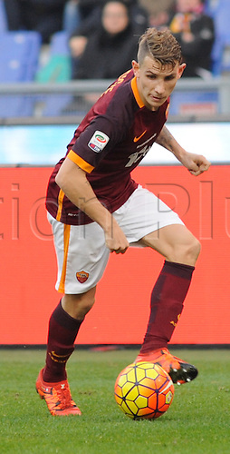 20.12.2015. Stadium Olimpico, Rome, Italy.  Serie A football league. AS Roma versus Genoa. Lucas Digne in action