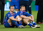 Barry Ferguson and Lee McCulloch close to tears after the end of the 2008 UEFA Cup Final