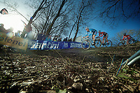 first corner into the race<br /> <br /> 2014 UCI cyclo-cross World Championships, Men U23