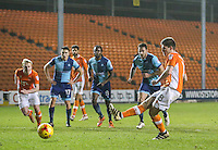 Blackpool's Danny Philliskirk misses a penalty in the first half<br /> <br /> Photographer Alex Dodd/CameraSport<br /> <br /> Checkatrade Trophy Round 3 Blackpool v Wycombe Wanderers - Tuesday 10th January 2017 - Bloomfield Road - Blackpool<br />  <br /> World Copyright &copy; 2017 CameraSport. All rights reserved. 43 Linden Ave. Countesthorpe. Leicester. England. LE8 5PG - Tel: +44 (0) 116 277 4147 - admin@camerasport.com - www.camerasport.com