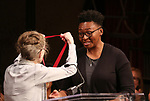 Joy Brown and Christina Anderson on stage at the The Lilly Awards  at Playwrights Horizons on May 22, 2017 in New York City.
