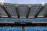 13th June 2020; Stadio San Paolo, Naples, Campania, Italy; Coppa Italia Football, Napoli versus Inter Milan; The empty standards in the stadium