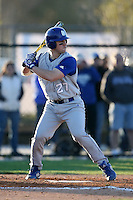 February 20, 2009:  Catcher Frank Esposito (27) of Seton Hall University during the Big East-Big Ten Challenge at Jack Russell Stadium in Clearwater, FL.  Photo by:  Mike Janes/Four Seam Images