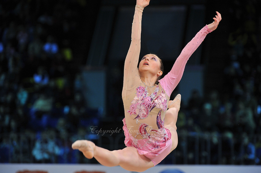 "SILIVIYA MITEVA of Bulgaria performs in Event Finals at 2011 World Cup Kiev, ""Deriugina Cup"" in Kiev, Ukraine on May 8, 2011."