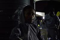 160 nigerianische Migranten kamen am 12.7.2018 aus Libyen in Lagos, Nigeria an. Unter ihnen Isaac U. (29) aus Lagos.
