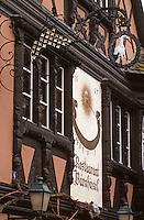 "Europe/France/Alsace/67/Bas-Rhin/Strasbourg: La façade du restaurant ""Buerehiesel"""
