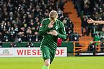 11.02.2018, Weserstadion, Bremen, GER, 1.FBL, SV Werder Bremen vs VfL Wolfsburg<br /> <br /> im Bild<br /> Florian Kainz (Werder Bremen #7) bejubelt seinen Treffer zum 3:1, bekreuzigt sich, <br /> <br /> Foto &copy; nordphoto / Ewert