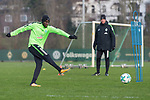 14.01.2018, Trainingsgelaende, Bremen, GER, 1.FBL, Training SV Werder Bremen<br /> <br /> im Bild<br /> Lamine San&eacute; / Sane (Werder Bremen #26), <br /> <br /> Foto &copy; nordphoto / Ewert