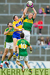 Kieran Donaghy Kerry in action against Cathal O'Connor Clare in the Munster Senior Football Championship at Fitzgerald Stadium in Killarney on Sunday.