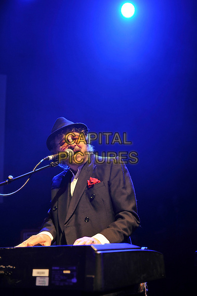 LONDON, ENGLAND - NOVEMBER 15: Chas Hodges of 'Chas &amp; Dave' performing at 'A Peaceful Noise', Bataclan Memorial Concert at Shepherd's Bush Empire on November 15, 2016 in London, England.<br /> CAP/MAR<br /> &copy;MAR/Capital Pictures