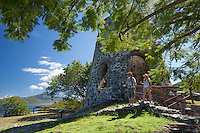 Hikers at Annaberg Plantation Ruins.Virgin Islands National Park.St. John, U.S.  Virgin Islands