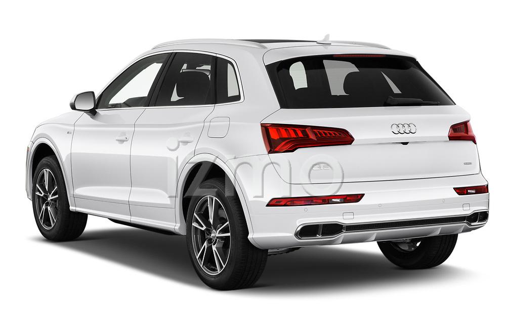 Car pictures of rear three quarter view of a 2020 Audi Q5 Premium 5 Door SUV angular rear